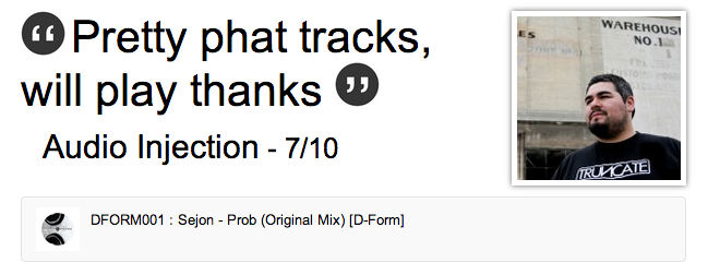Audio Injection supports Sejon   Prob  Original Mix    Label Worx1