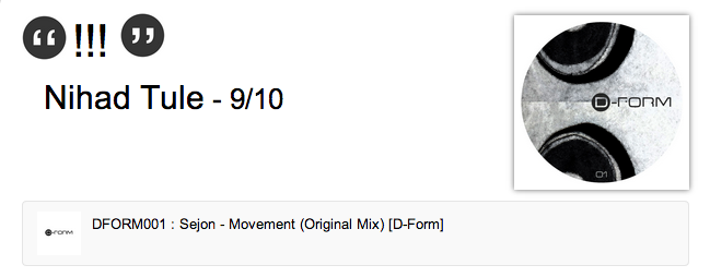 Nihad Tule supports Sejon   Movement  Original Mix    Label Worx1
